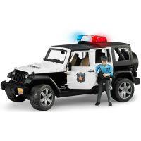Bruder 02526 Policejní Jeep Wrangler Rubicon s figurkou