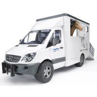 BRUDER 02533 - BRUDER MB Sprinter přeprava zvířat s koněm