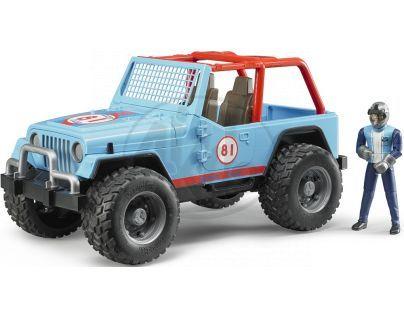 Bruder 02541 Jeep Cross Country modrý s figurkou