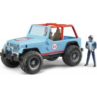 Bruder 02541 Jeep Cross Country modrý s figurkou
