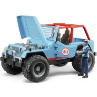Bruder 02541 Jeep Cross Country modrý s figurkou 2