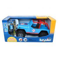 Bruder 2541 Jeep Wrangler Cross Country modrý s figúrkou jazdca 5