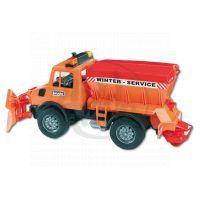 BRUDER 02572 - MB unimog pro zimní práce s radlicí