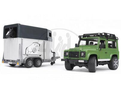 BRUDER 02592 Land Rover Přepravník na koně - II. jakost
