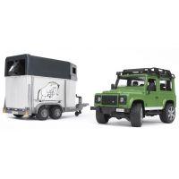 Bruder 02592 Land Rover a přepravník na koně