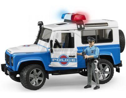 Bruder 02595 Policejní Land Rover s figurkou
