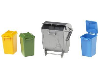 BRUDER 02607 - Náhradní kontejner a popelnice (3+1)