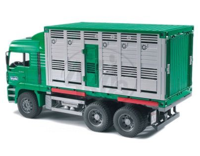 BRUDER 02749 - MAN kontejner na přepravu zvířat