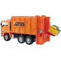 BRUDER 02762 - MAN Polelářský vůz oranžový
