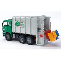 BRUDER 02764 - MAN - Nákladní auto popelář - zelenošedý