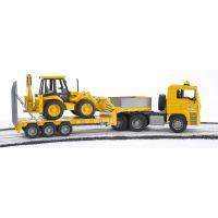 BRUDER 2776 Nákladní auto MAN s návěsem a Traktorem JCB 4
