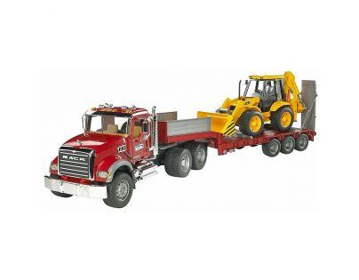Bruder 02813 Nákladní auto Mack Granit návěs a traktor JCB