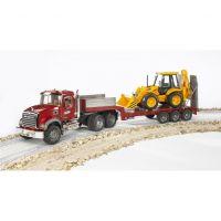 Bruder 02813 Nákladní auto Mack Granit návěs a traktor JCB 4