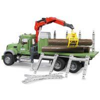Bruder 02824 Auto Mack Granit Přepravník dřeva 3