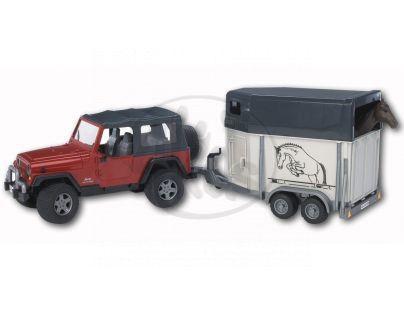 Bruder 02921 Jeep a přepravník na koně