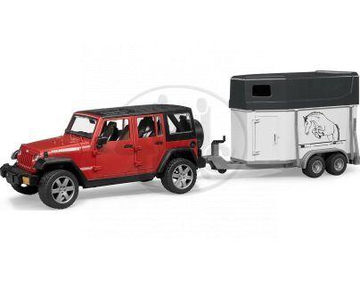 Bruder 02926 Jeep Wrangler Unlimited Rubicon s přívěsem na koně