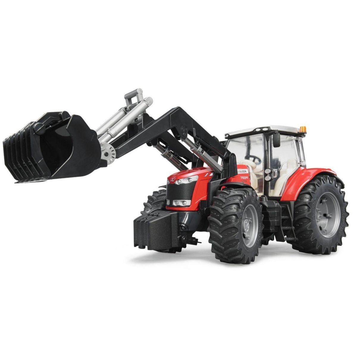 Bruder 03047 Traktor Massey Ferguson 7624 a čelní nakladač