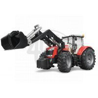 BRUDER - 0304 7- Traktor Massey Ferguson 7624 + čelní nakladač