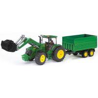 JOHN DEERE Traktor 7930 + nakladač + vlečka 03055