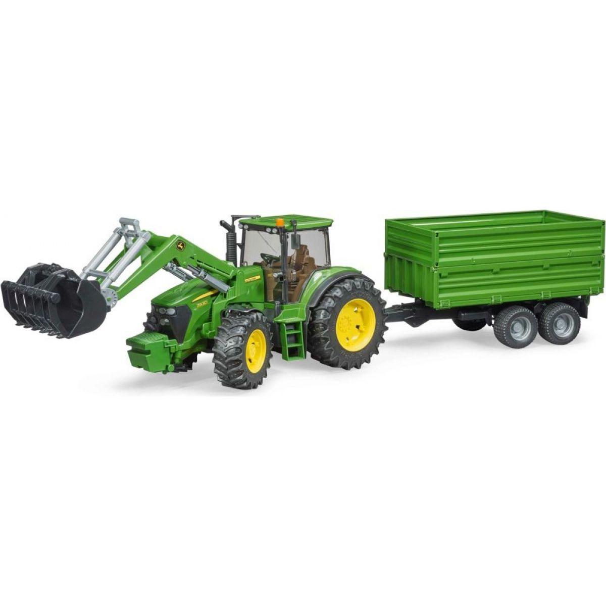 Bruder 03055 Traktor John Deere 7930 s nakladačem a valníkem