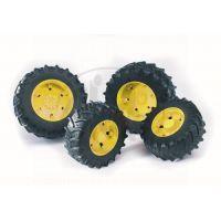 BRUDER 03304 - Dvojitá kola 3000 žlutá