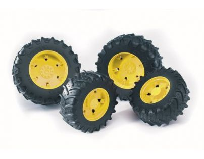 Bruder 03314 Dvojitá kola pro traktory řady 3000 žlutá