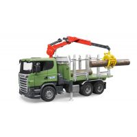 BRUDER 03524 - Nákladní auto Scania na přepravu dřeva
