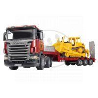 BRUDER 03555 - SCANIA návěs s buldozerem