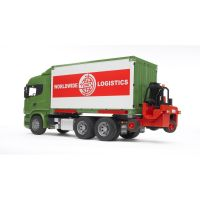 BRUDER 03580 - Scania kontejner s vozíkem