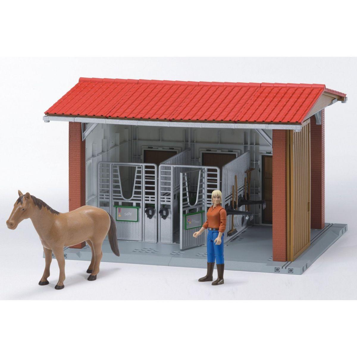 BRUDER Stáj pro koníky s figurkou koníka a chovatele WORLD 62520