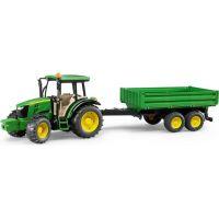 Bruder 1793 Traktor John Deere 5115 s přívěsem a př.lžicí