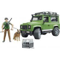 Bruder Land Rover lesník a pes s výstrojí