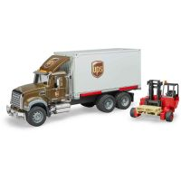 Bruder 2828 Mack Granite UPS logistik a vysokozdvihem