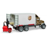 Bruder 2828 Mack Granite UPS logistik a vysokozdvihem 2
