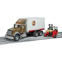 Bruder 2828 Mack Granite UPS logistik a vysokozdvihem 5