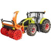 Bruder 3017 Traktor Claas Axion 950 se sněžnou frézou a řetězy