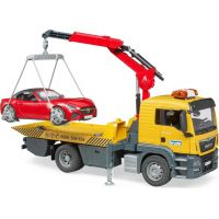 Bruder 3750 MAN TGS odtahová služba + roadster - Poškozený obal 3