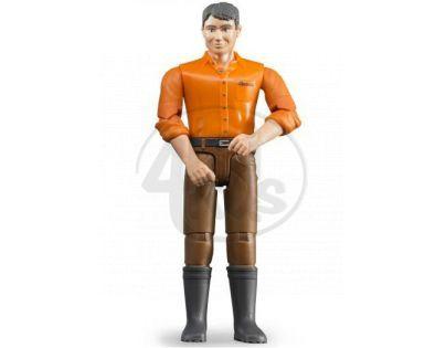 Bruder 60007 Bworld Figurka Muž hnědé kalhoty