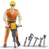 Bruder 60020 Figurka stavební dělník s příslušenstvím