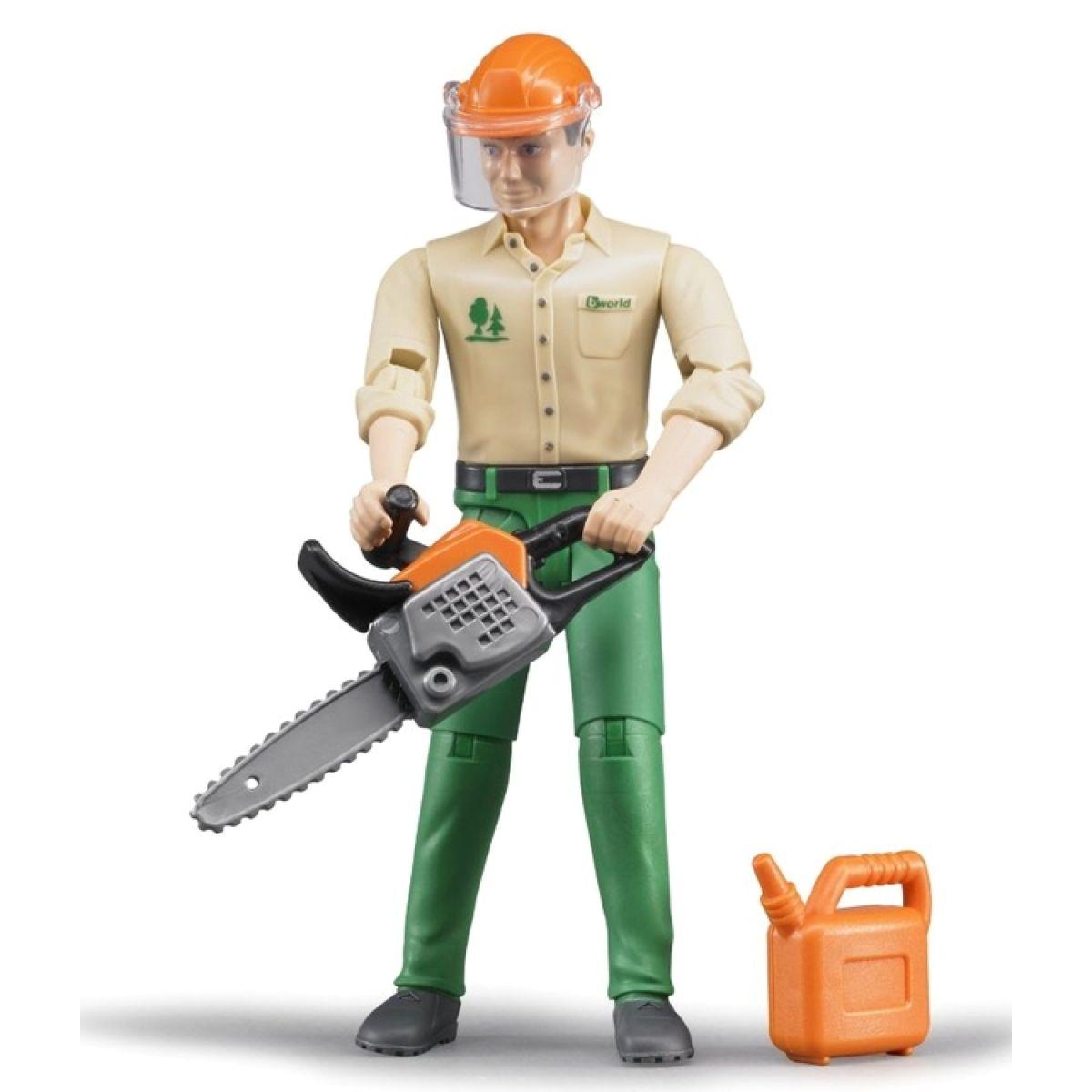 Bruder 60030 Figurka lesní dělník s příslušenstvím