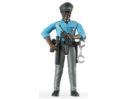 Bruder 60051 Figurka Policista tmavé pleti s příslušenstvím