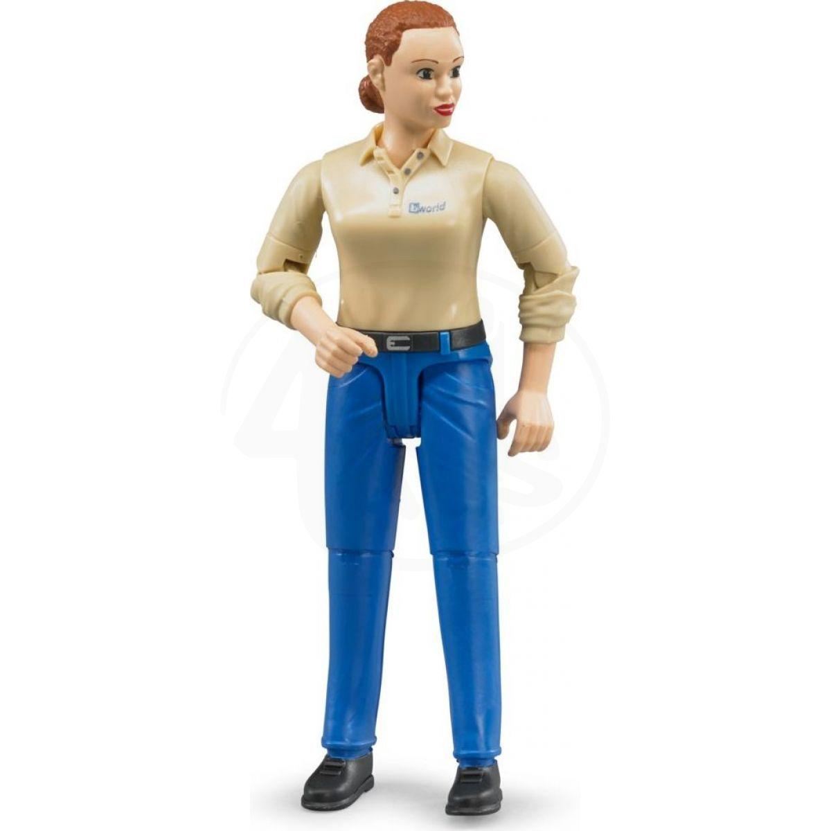 Bruder 60408 Bworld Figurka Žena modré kalhoty 8c727fd2cb