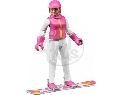 Bruder 60420 Bworld Figurka Snowboardistka