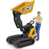 Bruder 62004 Pásovník přepravník JCB s figurkou
