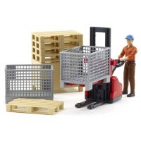 BRUDER 62200 Bworld - Logistický set, figurka