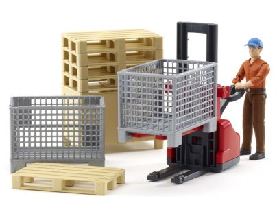 Bruder 62200 Bworld Logistický set a figurka