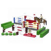 BRUDER 62530 Bworld - Překážky, kůň, figurka