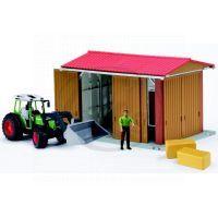 Bruder 62620 Stodola, traktor, figurka, příslušenství