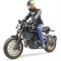 Bruder 63050 Scrambler Ducati Cafe Racer s řidičem