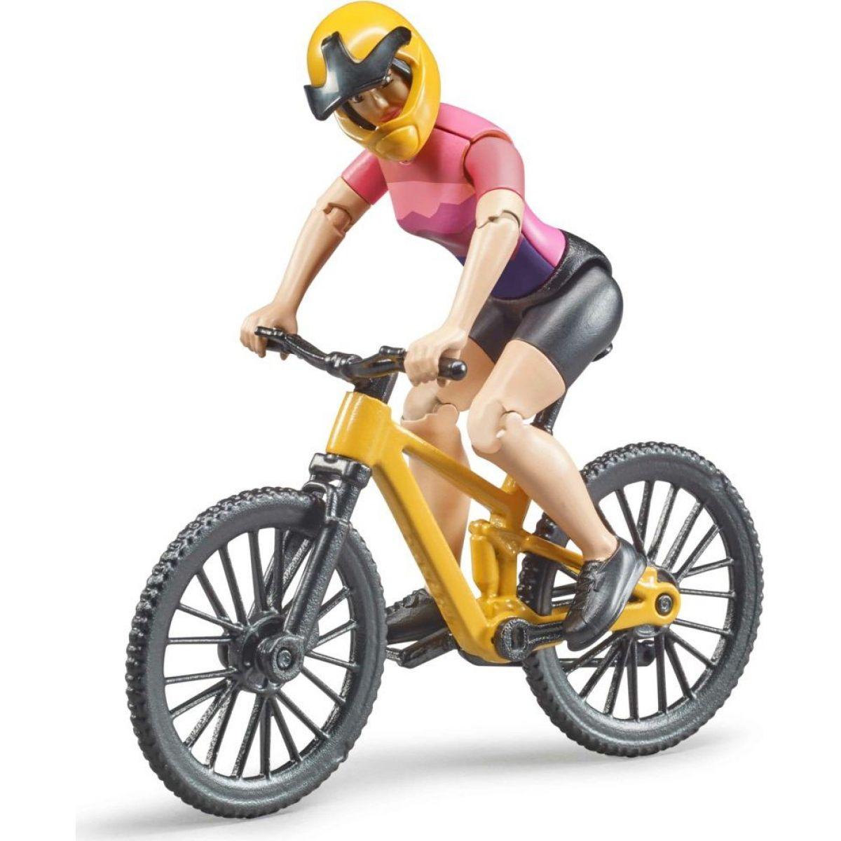 Bruder Horské kolo s cyklistkou